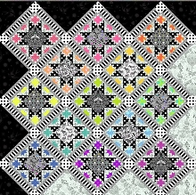 Tula Pink Opening Night Quilt Kit in Linework and True Colors *** MORE ARRIVING JANUARY 2021 - SIGN UP TO THE WAITING LIST **