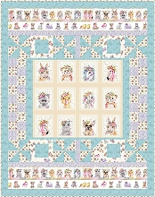 Little Darlings Quilt Kit in Blue