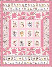 Little Darlings Quilt Kit in Pink