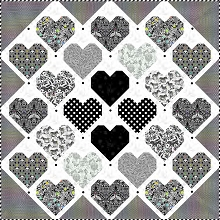 Tula Pink Retro Hearts Quilt Kit in Linework