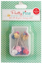 Lori Holt Pretty Pins - Quilting Pins Box Of 60 ***MORE ARRIVING SEPTEMBER - SIGN UP TO THE WAITING LIST ***