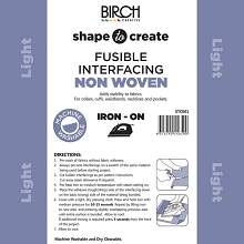 Birch Shape to Create LIGHTWEIGHT Interfacing FUSIBLE