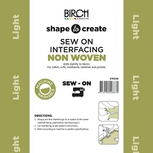 Birch Shape to Create LIGHTWEIGHT Interfacing SEW IN *** MORE ARRIVING SOON - SIGN UP TO THE WAITING LIST ***