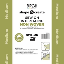 Birch Shape to Create MEDIUM WEIGHT Interfacing SEW IN