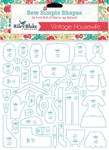 Riley Blake Designs - Sew Simple Shapes Vintage Housewife Templates by Lori Holt