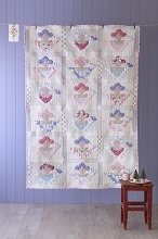 Tilda Old Rose Scrap Angels Quilt Kit in Blue / Red