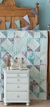 Tilda Old Rose Soft Star Quilt Kit in Teal / Grey