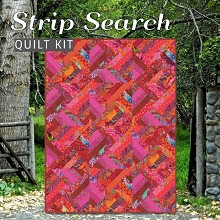 Strip Search Quilt Kit - Featuring Kaffe Fassett Classics in Lipstick