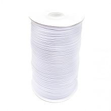 Flat White Elastic 5mm wide