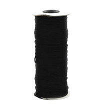 Flat Black Elastic 5mm wide