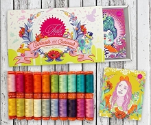 Aurifil Tula Pink Curiouser and Curiouser Thread Collection Boxed Set