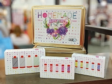 Aurifil Tula Pink Homemade Custom Tin and 3 Mini Thread Collections