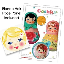 The Red Thread - Ooshka Babushka Doll Pattern plus printed fabric face panel - Blonde