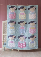Tilda Happy Campers Kimono Girls Quilt Kit in Blue Sage