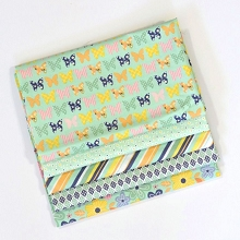 Riley Blake Designs - A Beautiful Thing - Fat Quarter Bundle of 5 Pieces in Mint Shades