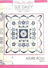 Sue Daley Designs - Azure Rose Quilt Pattern and Templates Pack