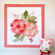 Down Grapevine Lane - Blushing Blooms Quilt Pattern featuring Summer Blush Fabric