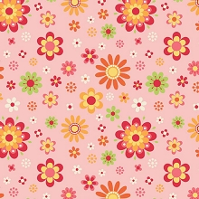 Riley Blake Designs - Just Dreamy 2 - Floral in Pink