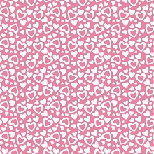 Riley Blake Designs - Holiday Valentine Hearts in Pink