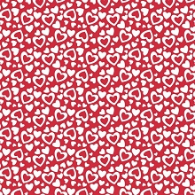 Riley Blake Designs - Holiday Valentine Hearts in Red