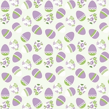 Riley Blake Designs - Easter Eggs in White