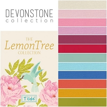 Devonstone Collection - Fat Quarter Bundle of 12 solids Co-Ordinating with Tilda LemonTree