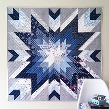 Down Grapevine Lane - Indigo Star Quilt Pattern