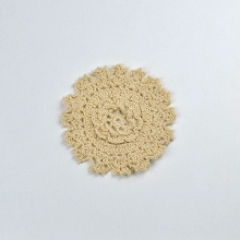 Cotton Crochet Doily - Small in Natural