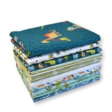 Makower UK - Rex - Fat Quarter Bundle of 10 Pieces