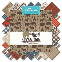 Riley Blake Designs - High Adventure - Fat Quarter Bundle of 12 Pieces