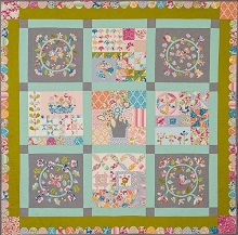 Homespun BOM 2018 - My Butterfly Patch Quilt Kit