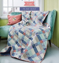 Tilda - Bird Pond Plaid Quilt Kit in Blue Colour Way