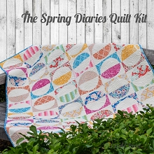Tilda - Spring Diaries Quilt Kit made in Tilda LemonTree