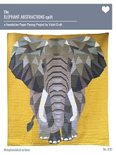 Violet Craft - The Elephant Abstractions Quilt Pattern