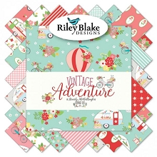 Riley Blake Designs - Vintage Adventure - Half Metre Bundle of 24 Pieces