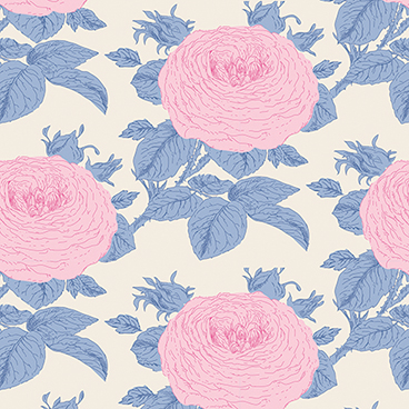 Tilda - Sunkiss - Rose in Blue *** FAT QUARTER ***