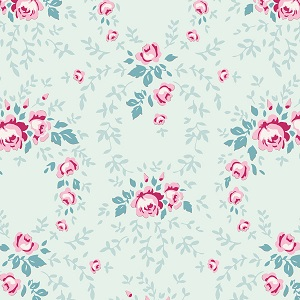 Tilda Old Rose Lucy Teal Mist