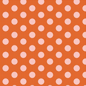Tilda Basics - Medium Dots in Ginger *** REMNANT 42CM X 112CM ***
