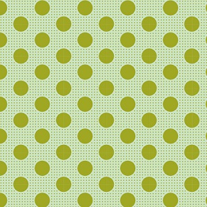 Tilda Basics - Medium Dots in Green *** REMNANT PIECE 21CM X 112CM ***