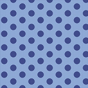 Tilda Basics - Medium Dots in Denim Blue *** REMNANT PIECE 34CM X 112CM ***