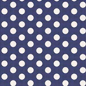 Tilda Basics - Medium Dots in Night Blue