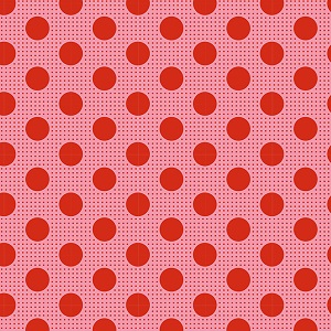Tilda Basics - Medium Dots in Salmon