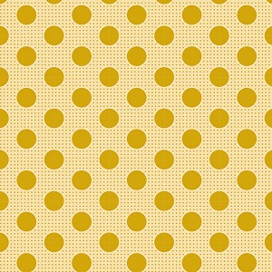 Tilda Basics - Medium Dots in Flaxen Yellow