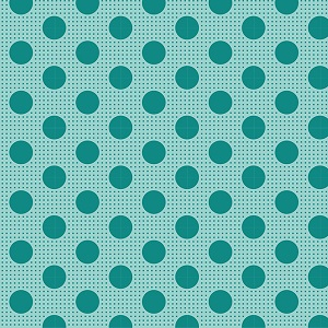 Tilda Basics - Medium Dots in Dark Teal