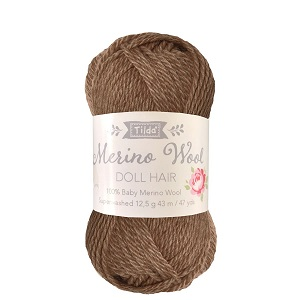 Tilda Merino Wool Yarn for Doll Hair Brown *** PRE-ORDER - ARRIVING 1ST APRIL ***