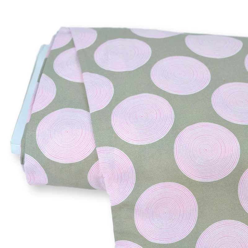 Tilda Luna in Pink/Grey 274cm Wide Backing *** REMNANT PIECE 127CM X 274CM ***