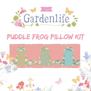 Tilda Gardenlife Puddle Frog Pillow Kit in Coral *** PRE-ORDER - ARRIVING MAY 2021 ***