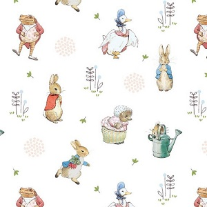 Craft Cotton Company Peter Rabbit Characters in Grey