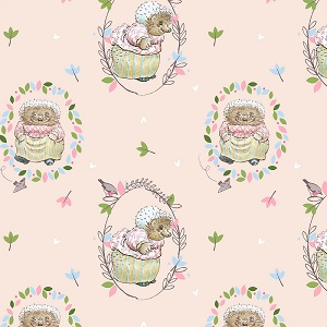 Craft Cotton Company Peter Rabbit Mrs. Tiggy Winkle in Blush