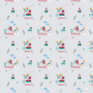 Craft Cotton Company Peter Rabbit Christmas Letters in Grey
